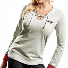 Antigua Washington Capitals Women s Huddle Tie Sweatshirt - Gray Minnesota  Vikings d464f0e11