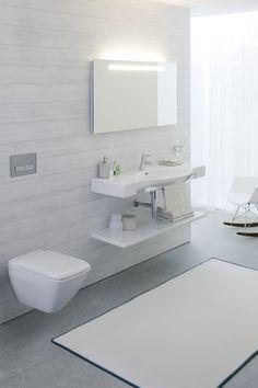 DESIGNLINIEN | LAUFEN Bathrooms Modern Kitchen Cabinets, Interior, Lighted Bathroom Mirror, Bathroom Sets, Bathroom Mirror, Bathroom, Laufen Bathroom, Home Decor Lights, Decor Lighting