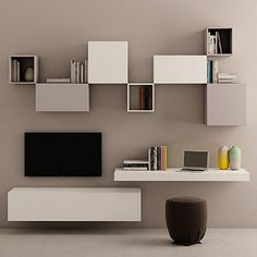Ultramodern, contemporary 'Latte' TV Unit. Beautiful, great quality. My Italian Living