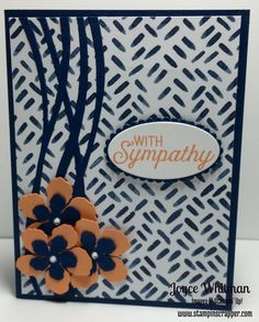 My sympathy card this month using Flourishing Phrases stamp set, Swirly…