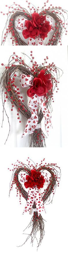 Valentine Heart Red Rose Wreath for front door, Valentine Heart, Valentine Decoration, Spring Wreath, Winter Wreath, Wedding Wreath, wreathe