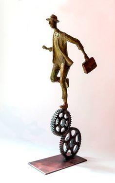 "Saatchi Art Artist Uri Dushy; Sculpture, ""Running the time wheels"" #art"