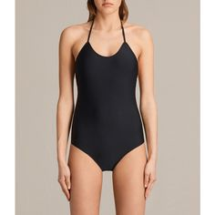 AllSaints Agnes Swimsuit ($105) ❤ liked on Polyvore featuring swimwear, one-piece swimsuits, black, cover up bathing suit, one piece swimsuit, cover up swimsuit, crochet swim cover up and swim suit cover up