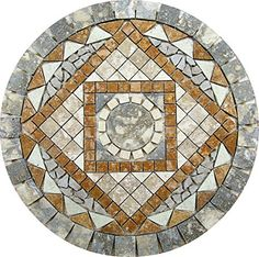 For a second I thought the brown squares were timbers! A good idea! Mosaic Stepping Stones, Pebble Mosaic, Mosaic Art, Mosaic Glass, Mosaic Tiles, Mosaic Designs, Mosaic Patterns, Covered Patio Design, Diy Outdoor Table