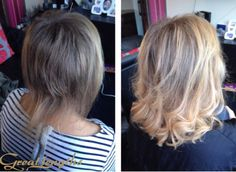 Hair extensions used to add thickness! A fab transformation by Hallas Hair! #blonde #hairextensions #hairtransformation