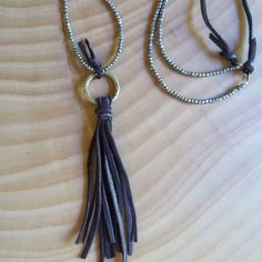 leather tassel necklace - Amy Weber Design