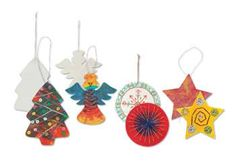 These fun and festive Cotton Christmas Decorations are perfect to hang on your Christmas tree or around the house!
