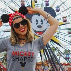 I Like My Food Mickey Shaped Ladies V Neck Tee- $24.95 from Once Upon Apparel Disney Style I Disney Tee I Disney Outfit I Walt Disney World I Disney Tee Shirt I Wear to Disney I Disney OOTD