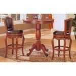 Coaster Furniture - Cherry Finish Round Top Counter Height 3 Piece Bar Table Set - C100268  SPECIAL PRICE: $761.00