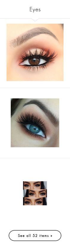 """Eyes"" by haleybean47 ❤ liked on Polyvore featuring beauty products, makeup, eye makeup, eyes, beauty, filler, eyeshadow, cosmetics, lip makeup and lipstick"