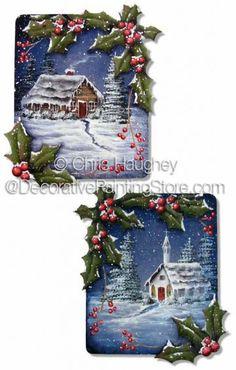 Holly Border Ornaments ePattern - Chris Haughey - PDF DOWNLOAD