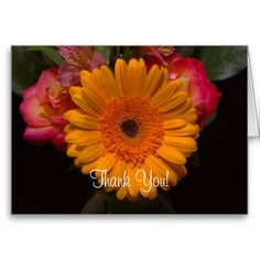 A Gerber Daisy Thank You Card from Florals by Fred #zazzle #gift