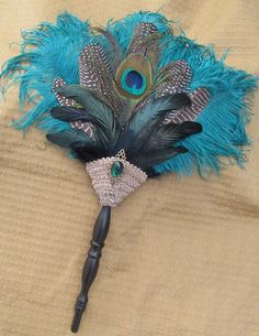 Teal and Black Elizabethan Renaissance by AlexandrasAdornments, $37.50