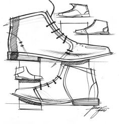Men ankle boots sketch Repinned by www.silver-and-grey.com