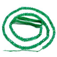 Green Onyx Loose Gemstone Beads String Necklace Women Fashion Jewelry AU 7221 #PinkCityGems #Necklace