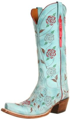 Lucchese Classics Women's L4685 Boot,Destroyed Robins Egg Blue Goat,6 B (M