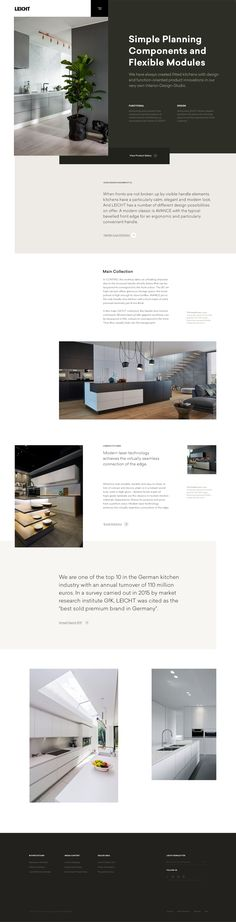 #website #webdesign #web #design #inspiration #ui #uiinspiration #ux #layout #typography #grid #simple #minimal #photography #architecture #kitchen #responsive #webdesigninspiration