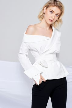 Scarlett One Shoulder Jacket Blouse Discover the latest fashion trends online at storets.com