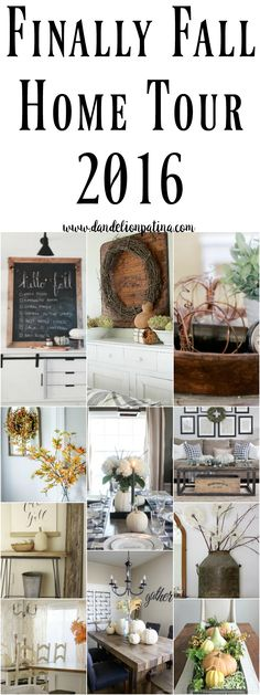 Finally Fall Home Tour featuring 12 farmhouse style homes styled for the fall season. Beautiful and inspiring ideas for fall decorating. #farmhousestyle