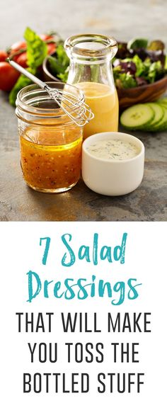 7 Salad Dressings That Will Make You Toss the Bottled Stuff Spruce up those summer salads with these healthy salad dressings you can make yourself, like superfood tahini, sriracha ranch and tropical mango-mint. Clean Eating Vegetarian, Clean Eating Dinner, Clean Eating Recipes, Vegetarian Recipes, Healthy Eating, Healthy Recipes, Clean Eating Salads, Vegetarian Salad, Vegan Clean