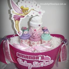 30 best baby shower and newborn gift ideas images on pinterest personalised baby gift basket small candy tinkerbell 5490 chnadoll gift boutique negle Image collections