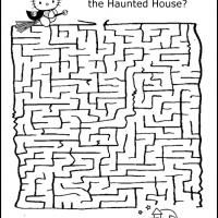 free halloween coloring pages mazes - photo#14