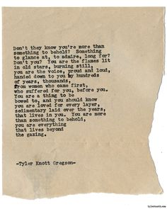 Typewriter Series #1578 by Tyler Knott Gregson Chasers of the Light & All The Words Are Yours are Out Now!