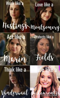 Think like a Drake, DiLaurentis, and Vanderwaal
