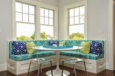 colorful banquette fabrics