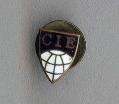 Vintage old  Official badge of the International Commission on Illumination