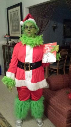 Coolest homemade grinch halloween costume idea pinterest grinch easy grinch costume 2015 play solutioingenieria Image collections