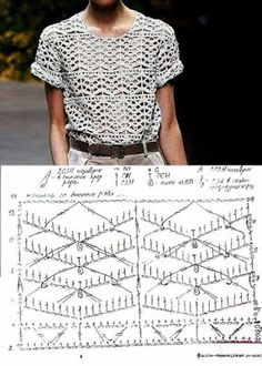 11 moldelos de Blusas de crochê com gráficos #crochet #graficos #blusasdecroche #graficosdecroche #receitasdecroche #artesanato #manualidades #moda #modacroche - Criativo Ok