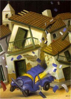 Car Bomb (1999) by Fernando Botero