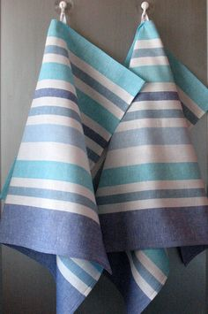 Linen Cotton Towels Dish  Tea Towels set of 2 by Coloredworld, $15.90