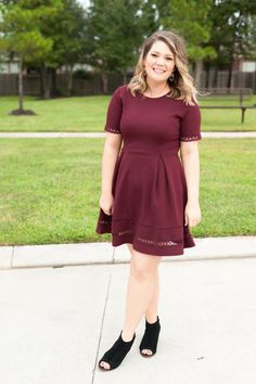Burgundy Dress for Friendsgiving