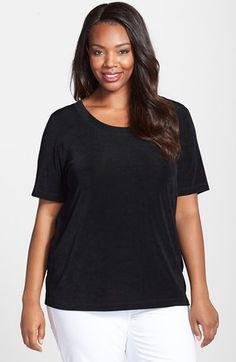 Plus Size Women's Vikki Vi Short Sleeve Top