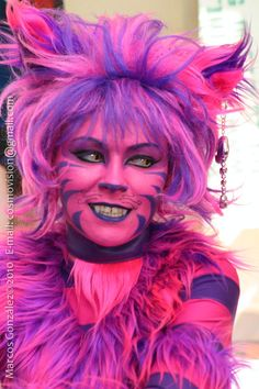 alice in wonderland cheshire cat face paint - Google Search