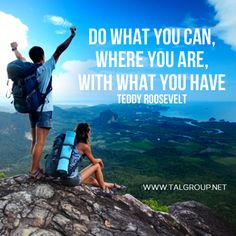 Career Lesson: Do what you can, where you are, with what you have. #quote #explore #leadership #inspire #tech