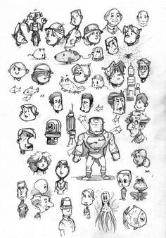 Croquis de personnages