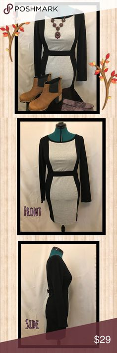 """Tart Collections Long Sleeve Mini Sweater Dress Soft & stretchy hour glass, fitted dress. Comfortable & Easy to move in. Laying flat measurements are 18"""" bust, 15"""" waist, 18"""" hips. If you have wider hips/bigger booty, this will feel more snug on your lower half, like a stretchy pencil skirt. Dress hits lower thigh. The mannequin itself measures 37"""", 31"""", 41"""". See comments for other measurements of the dress ON the mannequin. Wear with leggings and booties for a casual, chic Fall vibe. You…"""