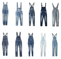 """""""Jean Overalls"""" by shanellevee on Polyvore featuring Levi's, Relaxfeel, Chicnova Fashion, WithChic, H&M, Abercrombie & Fitch, Frame Denim, Pierre Balmain, women's clothing and women"""