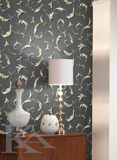 Check out our stylish modern wallpapers. Contemporary patterns from the top wallpaper designers. Modern Wallpaper, Designer Wallpaper, Sconces, Wall Lights, Contemporary, Lighting, Bathroom Ideas, Home Decor, Chandeliers