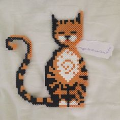Cat perler beads by myperlercreations | CATS | Pinterest
