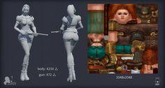 ArtStation - Steampunk Girl, Dmitry Grebenkov