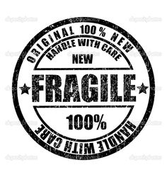 Grunge rubber stamp with the text fragile - Stock Illustration: 3783397