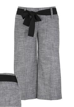 Smart Cross Stitch Sash Belt Dressy Capris