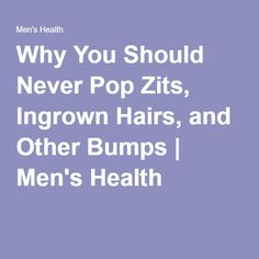 How do I pop an ingrown zit?