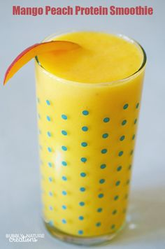 Mango Peach Protein Smoothie!