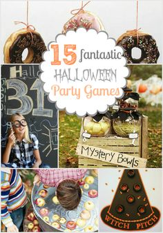 15 Halloween party game ideas : going to use some of these for our family's annual halloween party