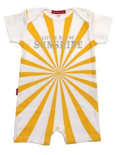 Little Ray of Sunshine Playsuit - Onesies | Oh Baby London